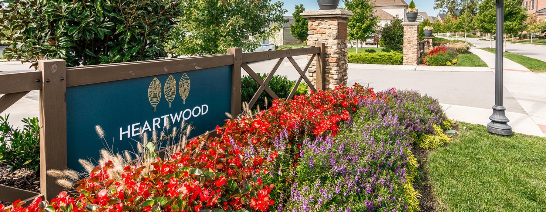 Entrance to Heartwood at Lockwood Glen